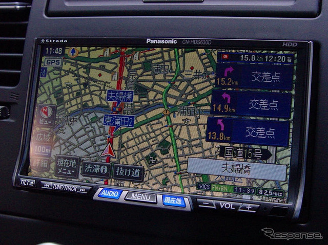 Map screen was the emphasis on drawing the road as well as the 9X5 of F-class type