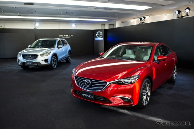All-new Mazda CX-5 (left) and Atenza (right)
