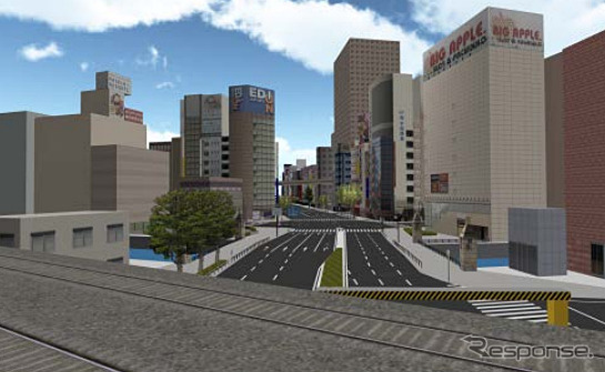 Image of the 3D city model data