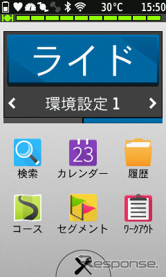 The main menu is like this graphical Seems like Smartphone, lined with icons