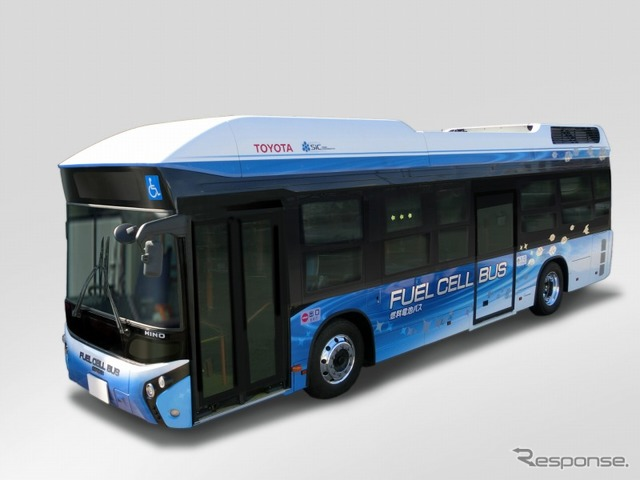FC Bus equipped with Toyota Fuel Cell System (TFCS)