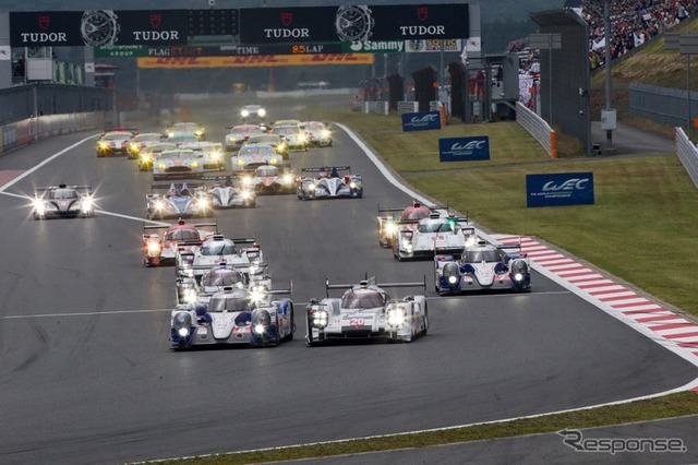 Scene of the 6 against the start of the World Championship endurance