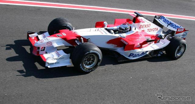 Toyota F1 test