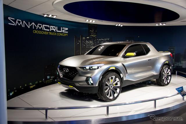 Hyundai Santa Cruz (salón del automóvil de Detroit 15)