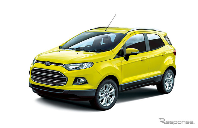 Ford ecosport bright yellow