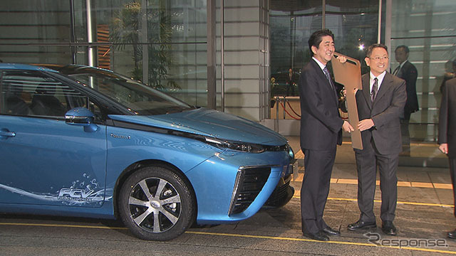 "Delivery ceremony took place in the Prime Minister's Office ""MIRAI"""