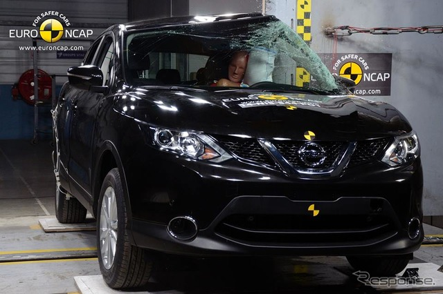New Nissan Qashqai in Euro NCAP crash tests