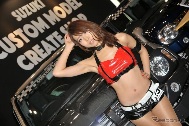 Suzuki custom models create shop booth Companion (Tokyo Auto Salon 2015)