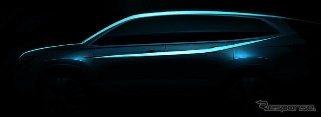 Teaser sketch of the all-new Honda Pilot