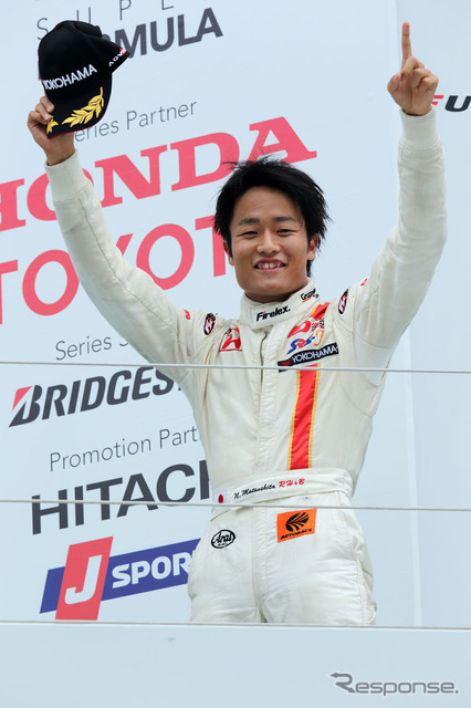 By 2015, Matsushita Shinji raising a Word and four wheels.