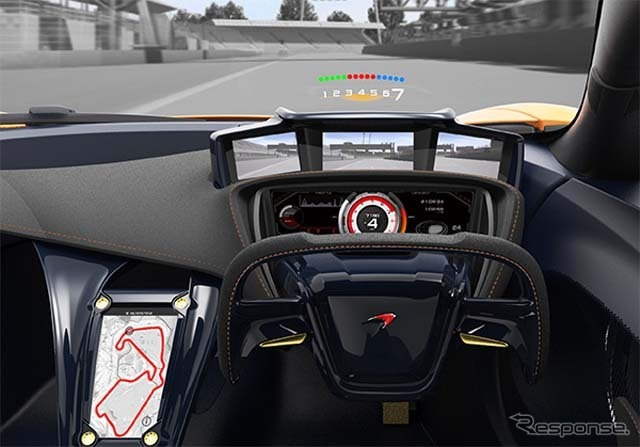 Combined head-up display, electronic meter, full HD camera, driver support