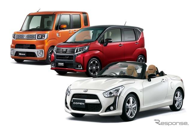 Daihatsu's mini car lineup