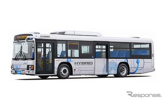 Isuzu, large route bus erga hybrid