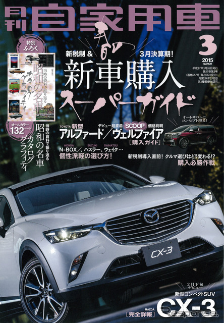 Monthly private cars by 2015, March issue