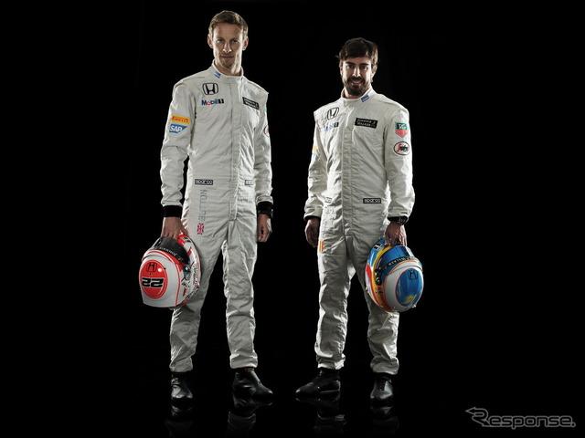 2/10, Honda welcome Plaza visitors will Jenson button (left) and Fernando Alonso (right)