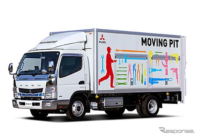 Mitsubishi Fuso Canter eco hibrida bergerak PICT