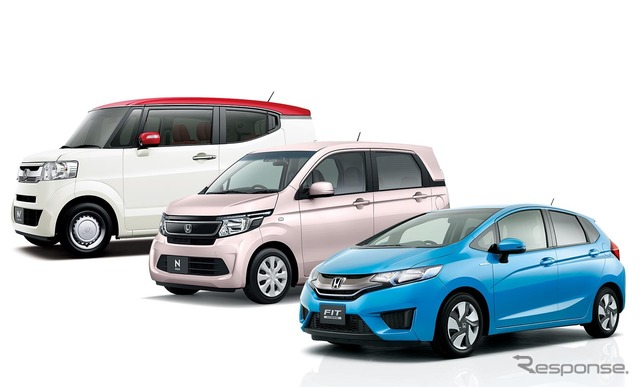 Honda cars entered the January new vehicle sales top 10 From left N-BOX (slash), N-WGN, fit