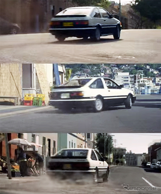 "THE WORLD IS ONE depicting runs through the roads of Japan, Australia and South Africa ""Heri"" ( AE86 ) and manipulative it boys TOYOTA NEXT ONE WEB movie series"