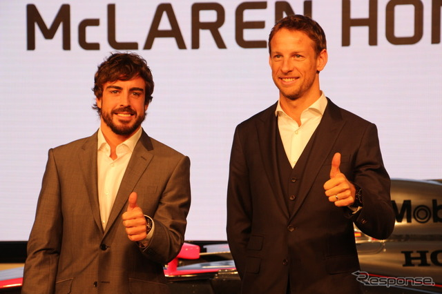 Fernando Alonso (left) & Jenson Button (right)