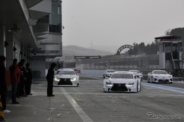 """DANCE of F"" theme contest at the Fuji Speedway Lexus racing machine. This spring's story video on YouTube"