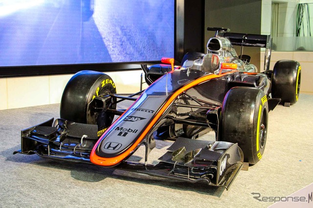 "McLaren Honda exhibited by Honda F1 press conference ""MP4-30'"
