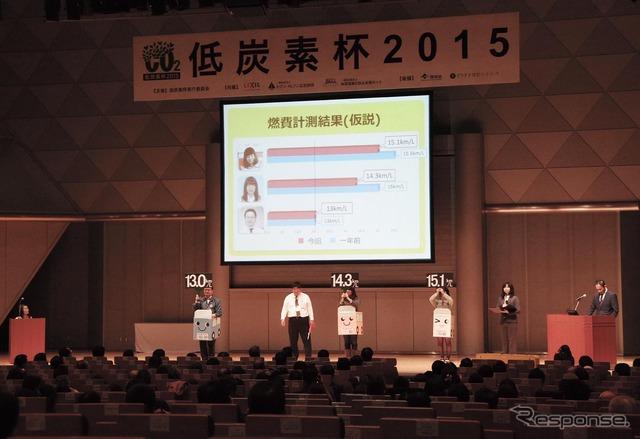 Final presentation by the low carbon Cup 2015, finalist Photo's Aida Hajime automobile driving schools (13)