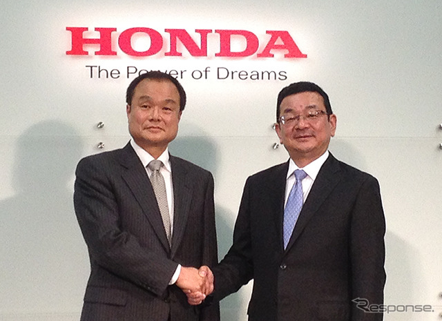 Honda President Takanobu Ito (left) and Takahiro Hachigo (right currently the Managing Executive Officer)