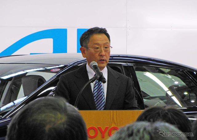 Akio Toyoda Toyota MIRAI line-off ceremony (24)