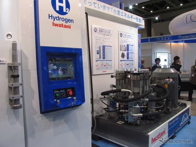 Iwatani hydrogen dispenser and compressor