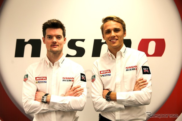 Buncombe(left) and Chilton from Nissan factory team decided to participate in Le Mans