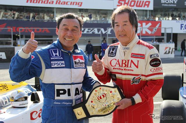 Satoru Nakajima (left) achieved rivals this year and Kazuyoshi Hoshino (right)