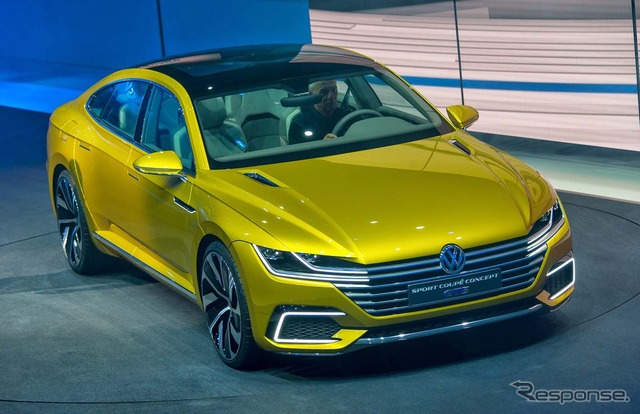 And Volkswagen sports coupe concept GTE
