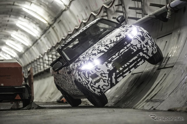 Range Rover イヴォーク convertible development vehicle