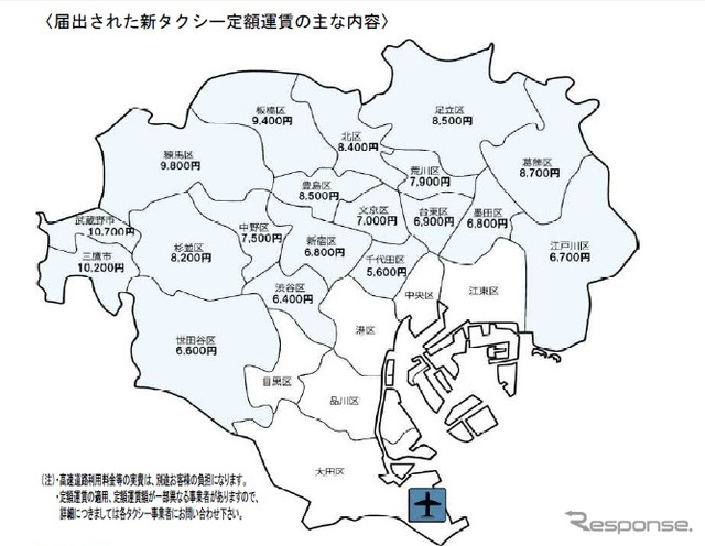 Taxi operators in Tokyo Haneda Airport fares revision