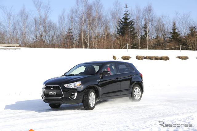 Mitsubishi RVR (Mitsubishi 4 x 4 model snow ride)