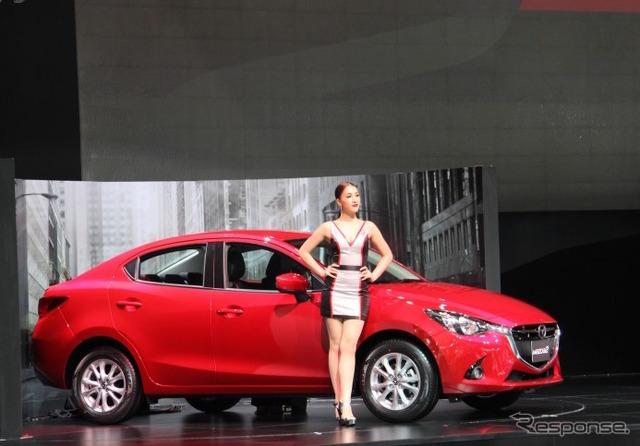 Mazda 2 sedan at 2015 Bangkok Motor Show