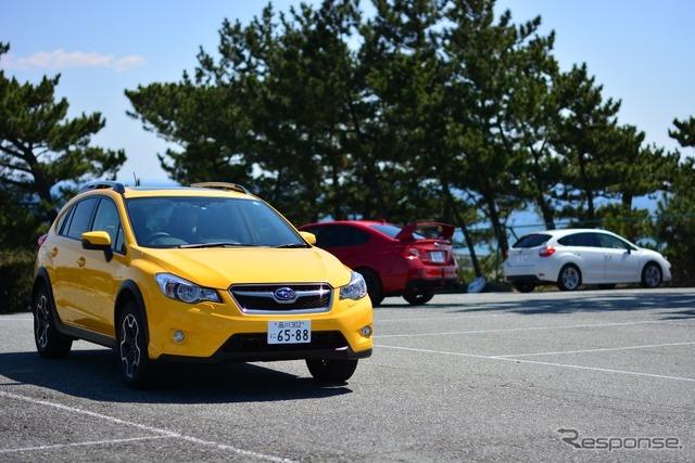 2014 Subaru model cars line up ride