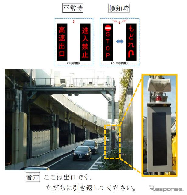 Installation situation (Meguro exit)