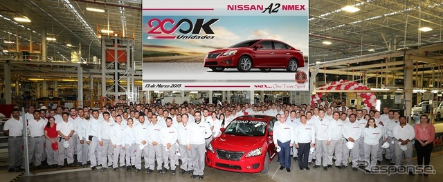 Achieved a cumulative production of 200000 vehicles Nissan Mexico Aguascalientes plant 2