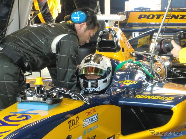 Kamui Kobayashi marks the first day of pre-season