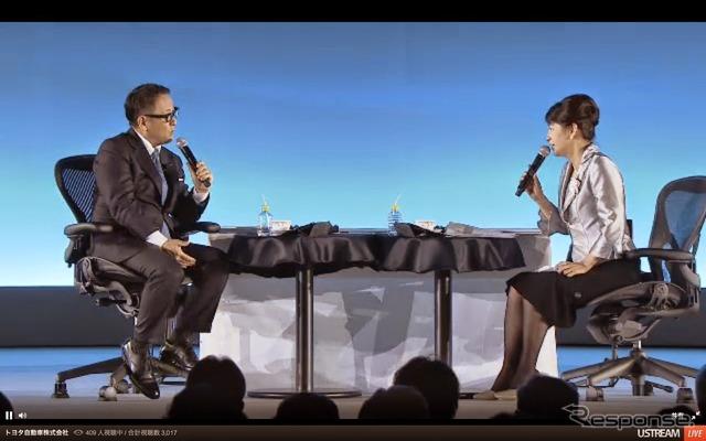 Interview with Toyota President Akio Toyoda and Mr. OTARI newborn
