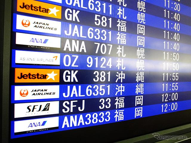 Central Japan International Airport Centrair (Nagoya, NGOs) and Naha (Okinawa, OKA) Jetstar and Japan new route (GK381-382) for flight day one How the Chubu International Airport