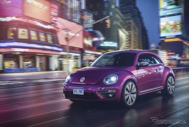 Color rosa Volkswagen Beetle edición