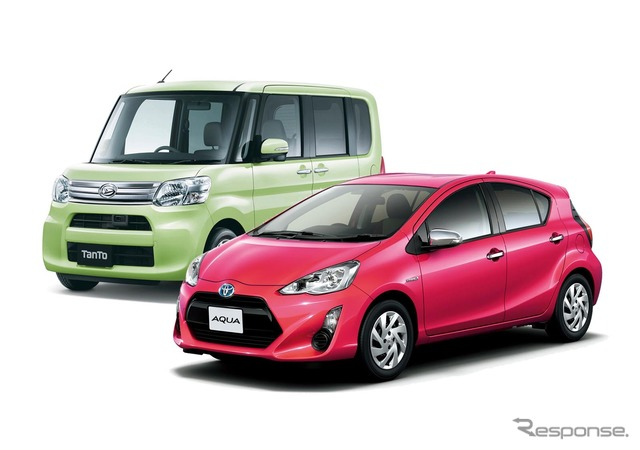 Aqua Toyota and Daihatsu tanto