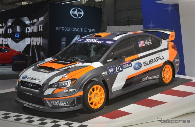 Subaru WRX STI Rallycross Car at 2015 New York Motor Show