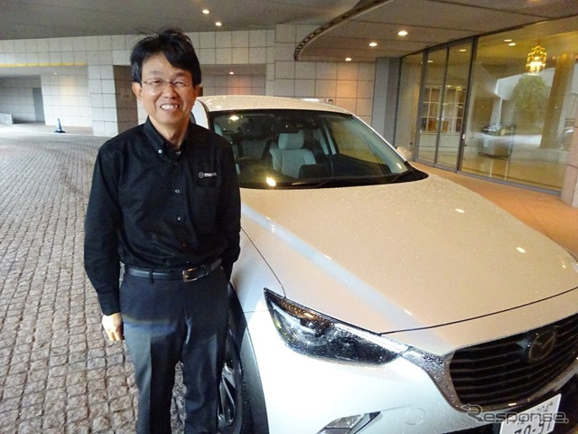 Mazda engine performance development department in charge, Tsunehiro Mori
