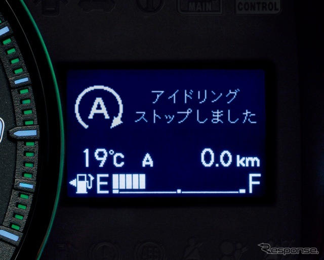Idling stop display (the reference image)
