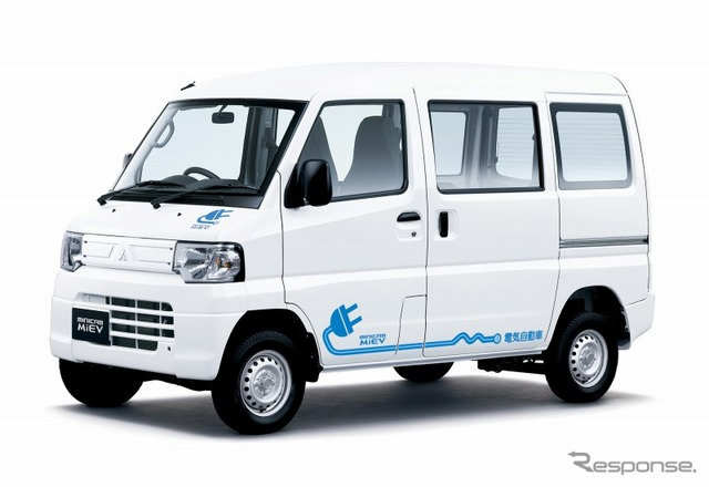 Mitsubishi and Tesla - van