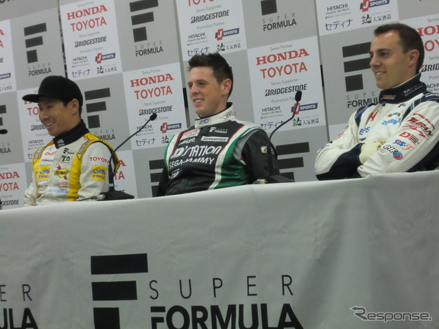 New 3 person interview Kamui Kobayashi, W... blur, B. baguette from the left