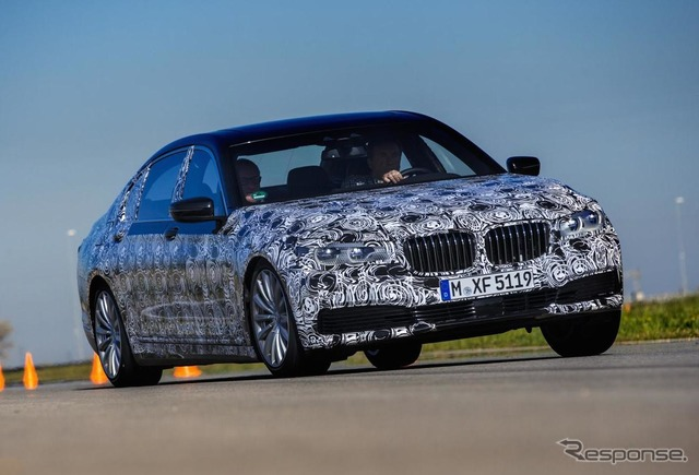 Next development prototype cars of the BMW 7 series.